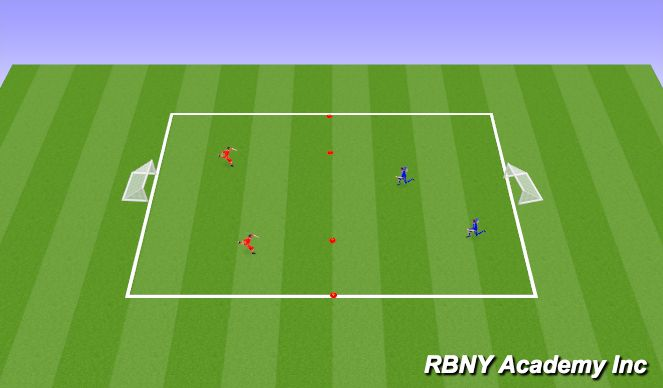 Football/Soccer Session Plan Drill (Colour): Conditioned Game- 20 min