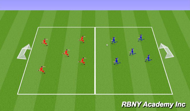 Football/Soccer Session Plan Drill (Colour): Match- 30 min