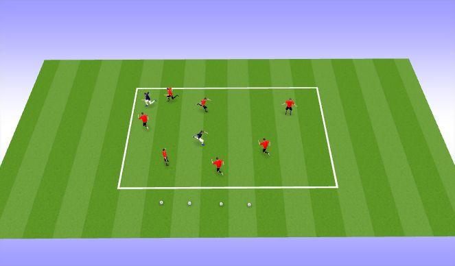 Football/Soccer Session Plan Drill (Colour): 抓地起身跑