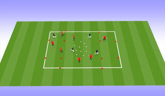 Football/Soccer Session Plan Drill (Colour): 盤球回基地