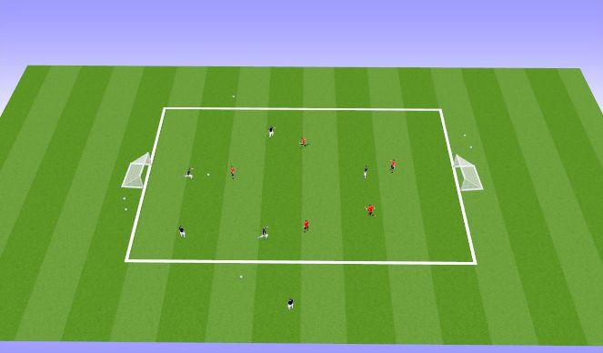 Football/Soccer Session Plan Drill (Colour): 5 vs 5