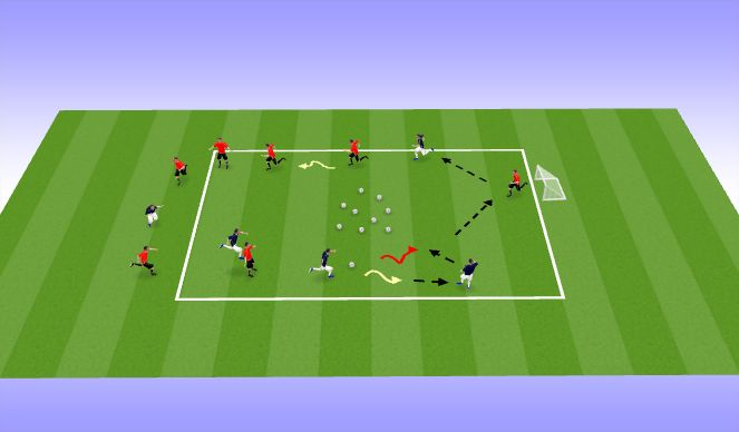 Football/Soccer Session Plan Drill (Colour): 障礙賽