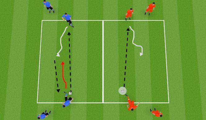 Football/Soccer Session Plan Drill (Colour): Longer passing