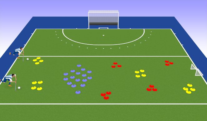 Hockey Session Plan Drill (Colour): Obstacle Course