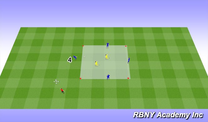 Football/Soccer Session Plan Drill (Colour): Intro - 4v2s