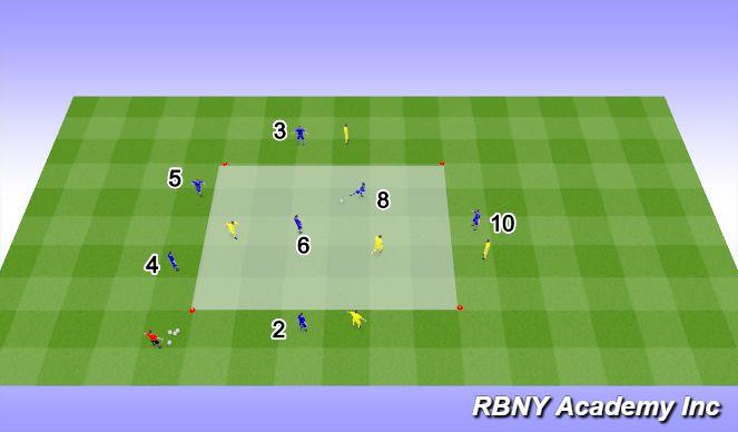 Football/Soccer Session Plan Drill (Colour): Main - 8v5
