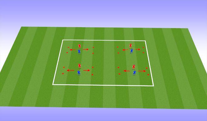 Football/Soccer Session Plan Drill (Colour): Dribbling Option 6