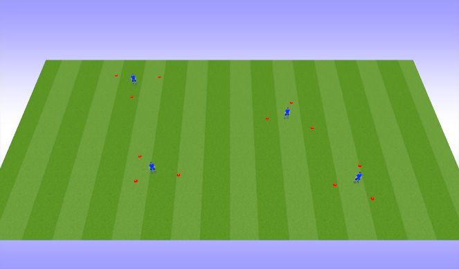 Football/Soccer Session Plan Drill (Colour): Dribbling option 8