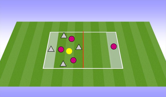 Football/Soccer Session Plan Drill (Colour): finding space long switch