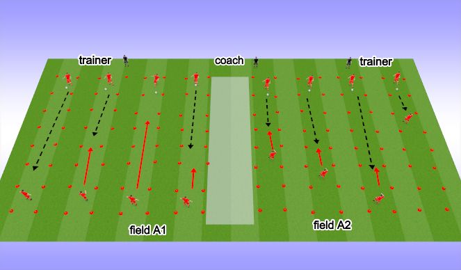 Football/Soccer Session Plan Drill (Colour): Short & Long Pass control