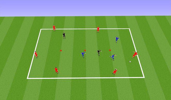 Football/Soccer Session Plan Drill (Colour): PP 6v3+2