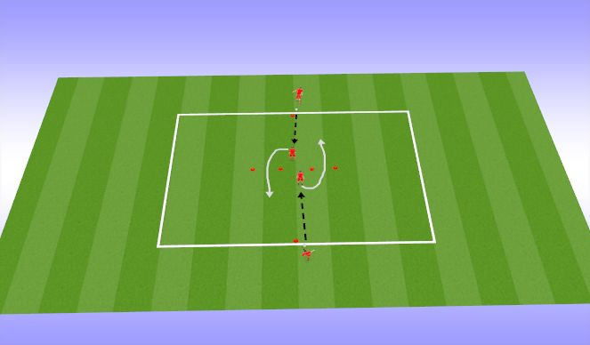 Football/Soccer Session Plan Drill (Colour): Warm up (10 min)