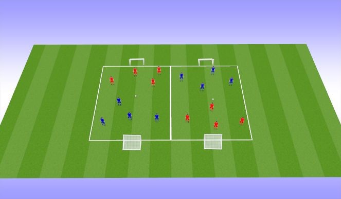 Football/Soccer Session Plan Drill (Colour): $ v 4 Tournament ( 25 min)