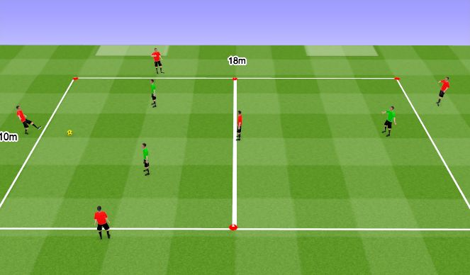 Futsal Session Plan Drill (Colour): Boxes