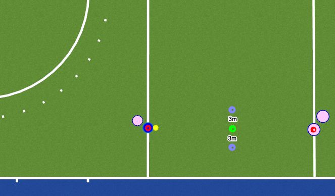 Hockey Session Plan Drill (Colour): Passing on the Move