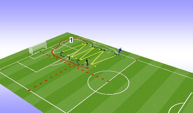 Football/Soccer Session Plan Drill (Colour): Jaam 1