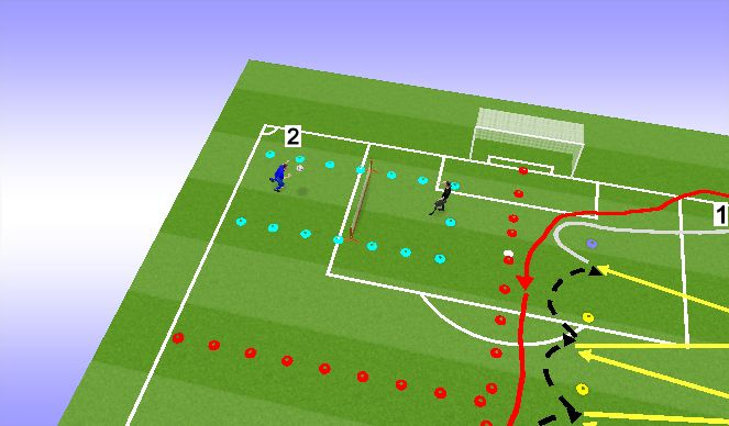 Football/Soccer Session Plan Drill (Colour): Jaam 2