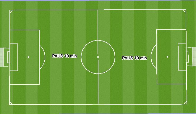 Football/Soccer Session Plan Drill (Colour): Paus 10 min