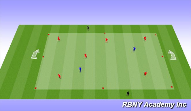 Football/Soccer Session Plan Drill (Colour): Conditioned