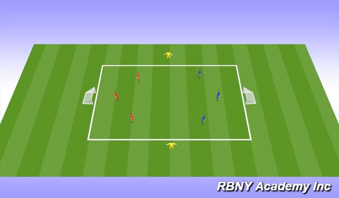 Football/Soccer Session Plan Drill (Colour): CONDITIONED GAME. (20 mins)