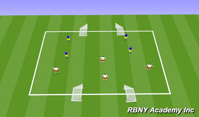 Football/Soccer Session Plan Drill (Colour): Large Goal Game