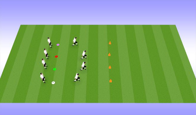Football/Soccer Session Plan Drill (Colour): Around the Cone
