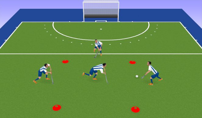 Hockey Session Plan Drill (Colour): Get out of the box