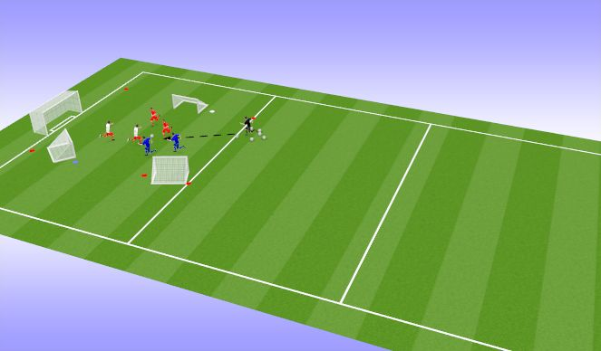 Football/Soccer Session Plan Drill (Colour): triangle game