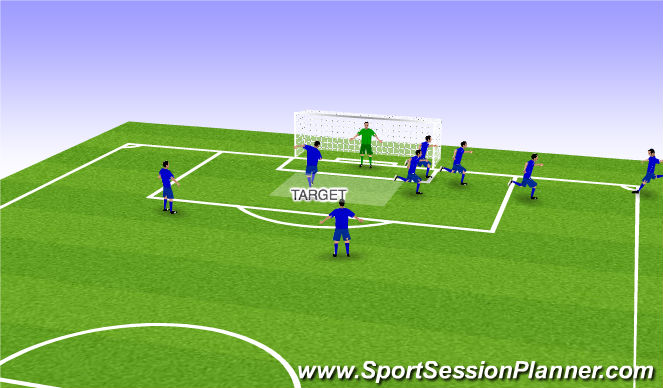 Football/Soccer Session Plan Drill (Colour): Finish