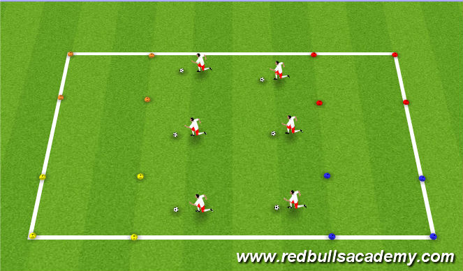 Football/Soccer Session Plan Drill (Colour): Visit the Animals