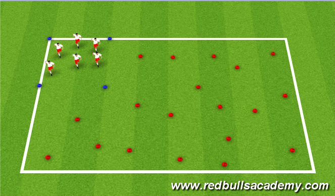 Football/Soccer Session Plan Drill (Colour): Bring the Animal Home