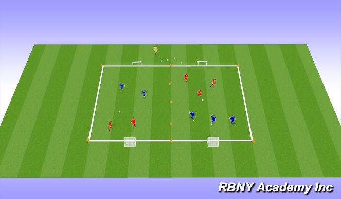 Football/Soccer Session Plan Drill (Colour): Small Sided Match