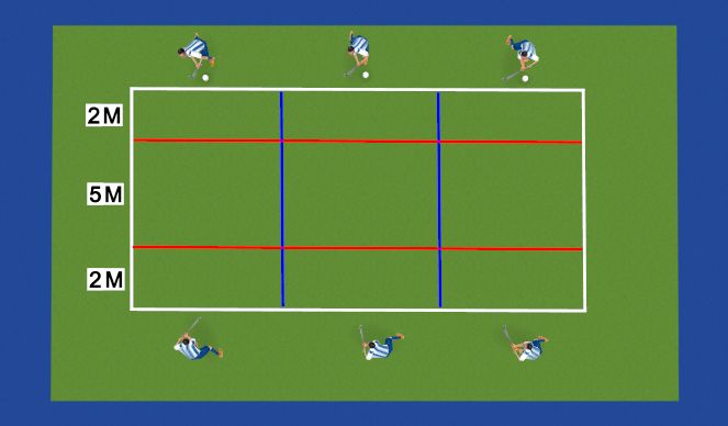 Hockey Session Plan Drill (Colour): Hockey Tennis