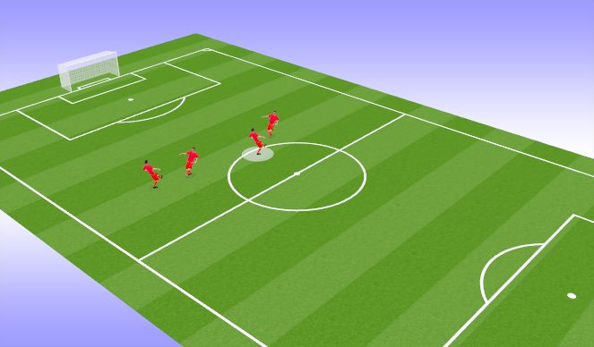 Football/Soccer Session Plan Drill (Colour): 2- Touch