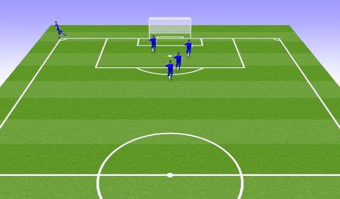 Football/Soccer Session Plan Drill (Colour): Set Pieaces