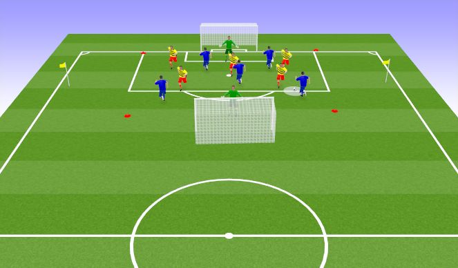 Football/Soccer Session Plan Drill (Colour): 5v5 Training Group