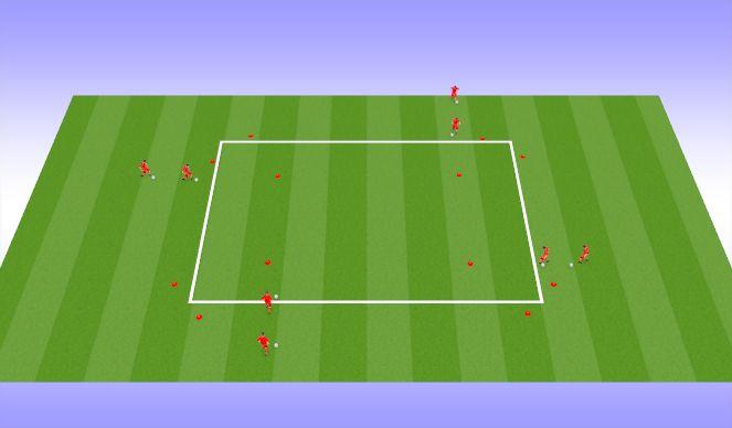 Football/Soccer Session Plan Drill (Colour): Dribbling Option 10