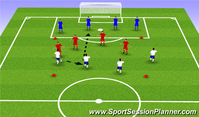 Football/Soccer Session Plan Drill (Colour): SSG - Back 4 rondo