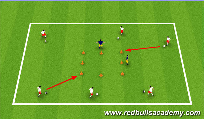 Football/Soccer Session Plan Drill (Colour): Gotham City