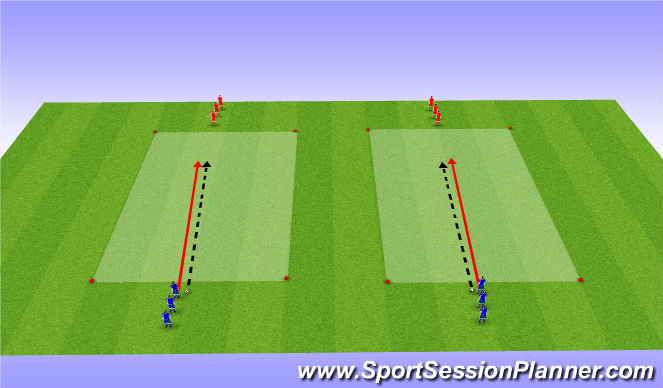 Football/Soccer Session Plan Drill (Colour): 1 vs 1 Transition