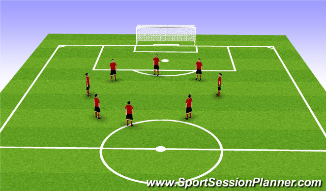 Football/Soccer Session Plan Drill (Colour): Activation and Warm Up