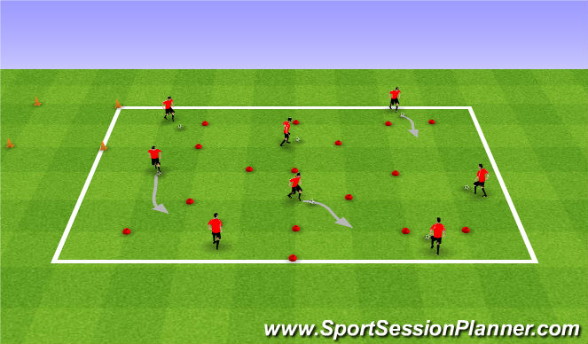 Football/Soccer Session Plan Drill (Colour): Meet the Croods