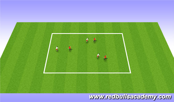 Football/Soccer Session Plan Drill (Colour): Lose your partner