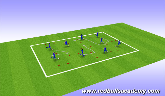 Football/Soccer Session Plan Drill (Colour): WARM UP : GATES GAME