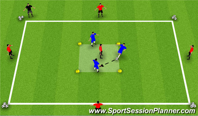 Football/Soccer Session Plan Drill (Colour): Transition Defence to Attack