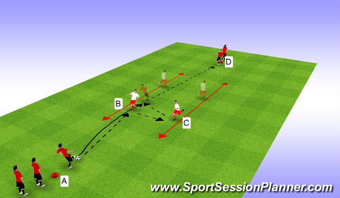 Football/Soccer Session Plan Drill (Colour): Diamond Passing 1