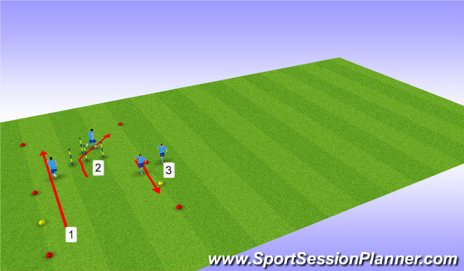 Football/Soccer Session Plan Drill (Colour): Warm-up & sprints