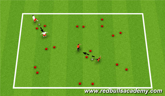 Football/Soccer Session Plan Drill (Colour): Gate Passing