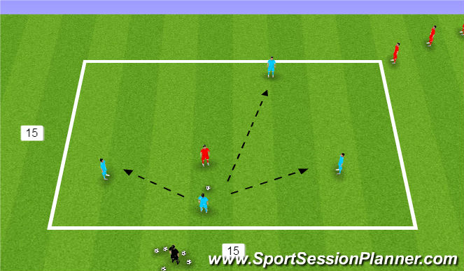 Football/Soccer Session Plan Drill (Colour): 4 v 1 Possession