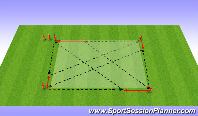 Football/Soccer Session Plan Drill (Colour): PME # 2